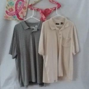 Bundle of XXL Polo Shirts, Izod & Ron Chere Skin